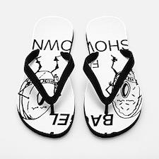 Donut_vs_Bagel_ME_flat Flip Flops