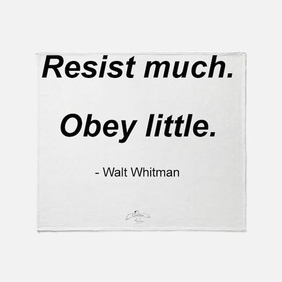 RESIST_MUCH_OBEY_LITTLE Throw Blanket