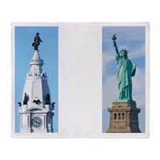 penn liberty transperant Throw Blanket