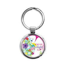 worlds best twilight mom pink Round Keychain