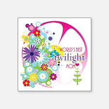 "worlds best twilight mom pi Square Sticker 3"" x 3"""