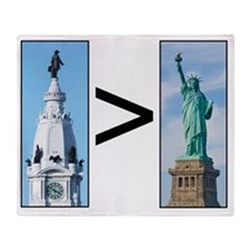 penn vs liberty Throw Blanket