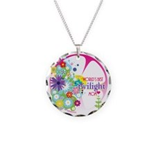 worlds best twilight mom pin Necklace