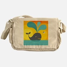 Summer Whale Messenger Bag