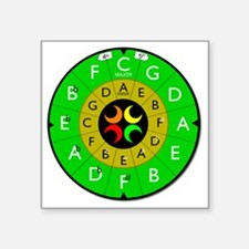 """circle_of_fifths_final_2 Square Sticker 3"""" x 3"""""""