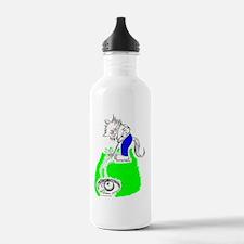 Golfer Cat in Color Water Bottle