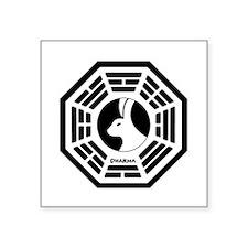 """Lost Boat White Square Sticker 3"""" x 3"""""""