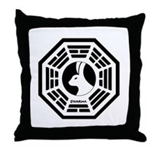 Lost Boat White Throw Pillow