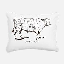 Eat Me Beef Dark Rectangular Canvas Pillow