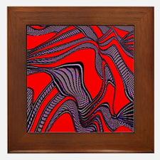 foolish movements red black Framed Tile