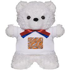 foolish movements swirl orange Teddy Bear