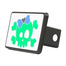 CutieSkullSepsBlueBow Hitch Cover