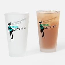 KPCR Blue Big Drinking Glass