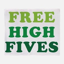 freehighfives Throw Blanket