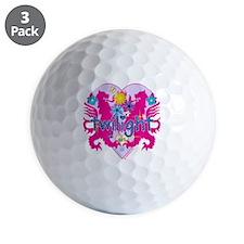 Twilight Girl Twin Lions Pink Golf Ball
