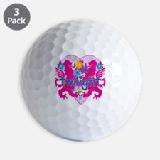 Twilight Girl Twin Lions Pink Golf Ball