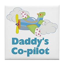 Daddys Co-pilot (boy) Tile Coaster