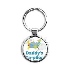 Daddys Co-pilot (boy) Round Keychain