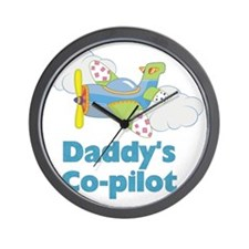 Daddys Co-pilot (boy) Wall Clock