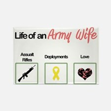 life of an army wife Rectangle Magnet