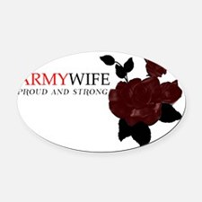 Proud and Strong Oval Car Magnet