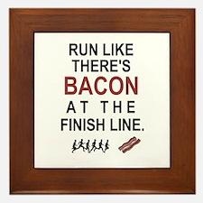 Will Run for Bacon Framed Tile