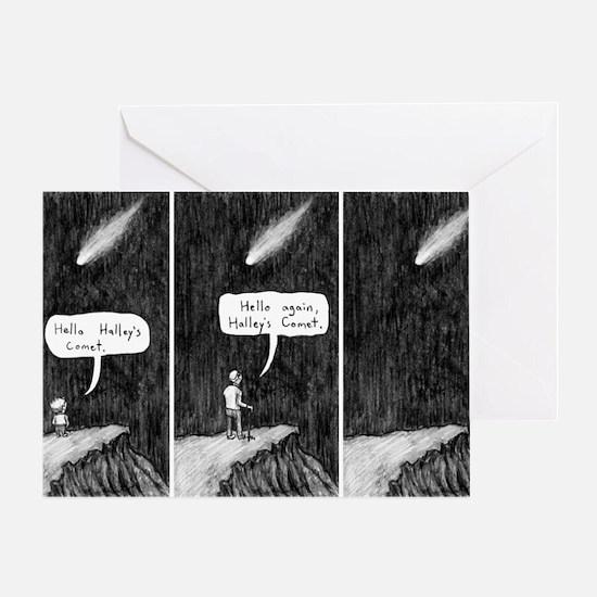 Halleys Comet Depressing Comic Greeting Card