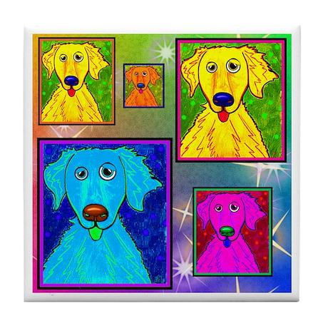 Golden Retriever Art Tile Coaster