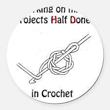 CrochetPhD Round Car Magnet