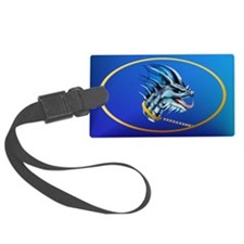 Dragon and Gold Chain -oval_stic Luggage Tag