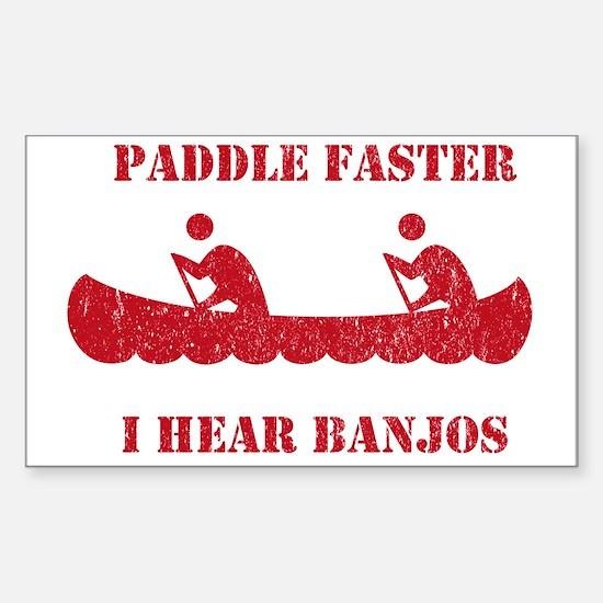 PaddleFaster Sticker (Rectangle)