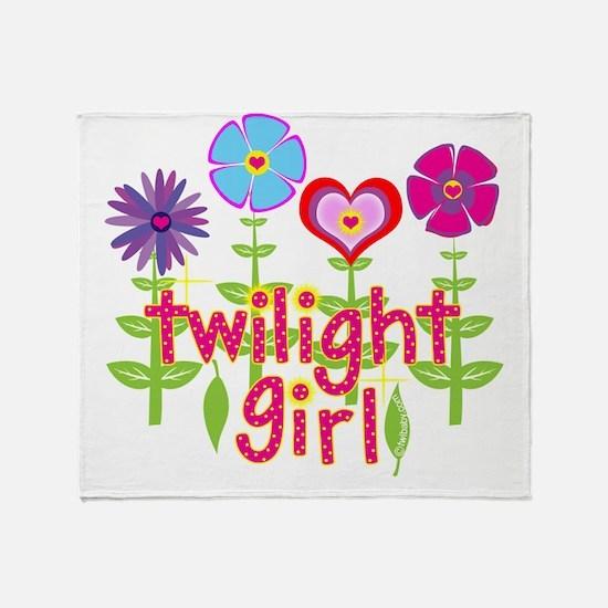 twilight girl by twibaby Throw Blanket
