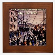thebostonteaparty_16dec1773 Framed Tile