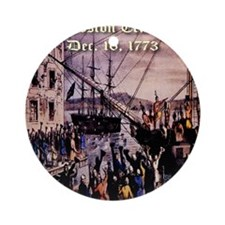 thebostonteaparty_16dec1773 Round Ornament