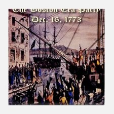 thebostonteaparty_16dec1773 Tile Coaster