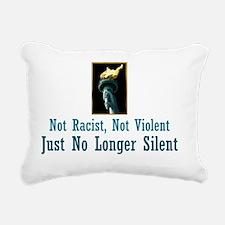 No Longer Silent T-Shirt Rectangular Canvas Pillow