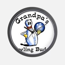 grandpas bowling buddy 2 Wall Clock