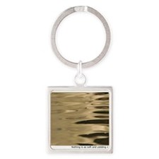 Water Circles Square Keychain