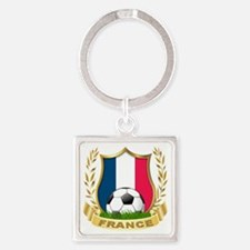 3-france Square Keychain
