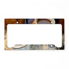 horsehair pottery License Plate Holder