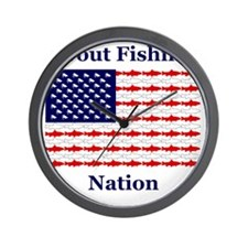 trout nation Wall Clock