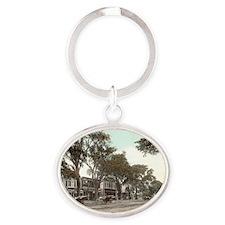 Main Street Oval Keychain