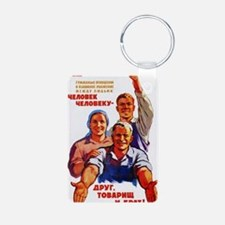 A man is a friend, comrade Keychains