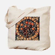 Orange Tree of Life by William Morris 189 Tote Bag