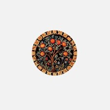 Orange Tree of Life by William Morris  Mini Button