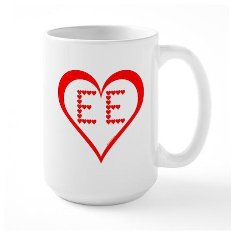 EE Hearts Large Mug