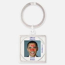 3-Obama Urinal Sticker Square Keychain