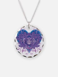 twilight eclipse blue heart Necklace