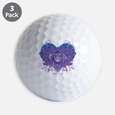 twilight eclipse blue heart Golf Ball