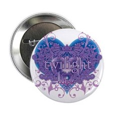 "twilight eclipse blue heart 2.25"" Button"
